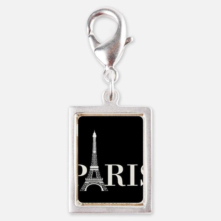 Paris Eiffel Tower Black White Charms