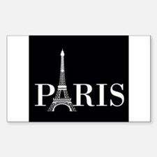 Paris Eiffel Tower Black White Decal