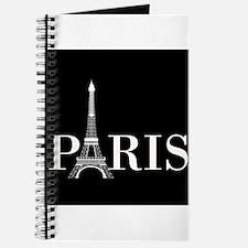 Paris Eiffel Tower Black White Journal