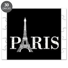 Paris Eiffel Tower Black White Puzzle