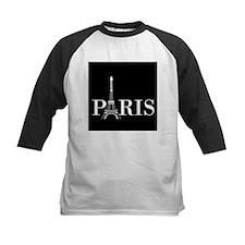 Paris Eiffel Tower Black White Baseball Jersey