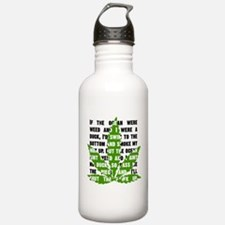 Weed Poem Water Bottle