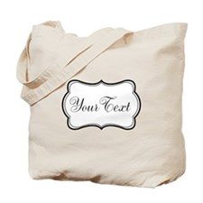 Personalizable Black and White Script Tote Bag