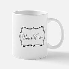Personalizable Black and White Script Mugs