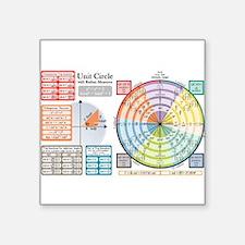 "Funny Math teacher Square Sticker 3"" x 3"""