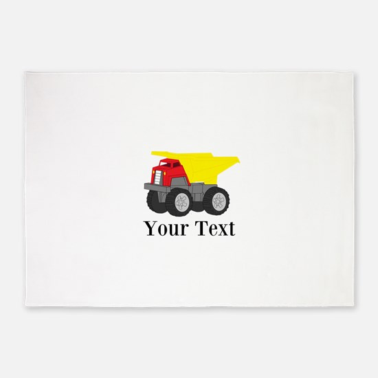 Personalizable Dump Truck 5'x7'Area Rug