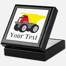 Personalizable Dump Truck Keepsake Box