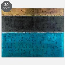 ROTHKO TEAL BLACK BROWN YELLOW 2 Puzzle