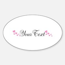 Personalizable Pink Hearts Decal