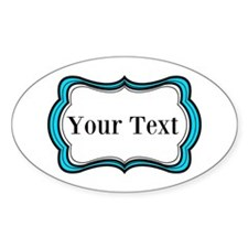 Personalizable Teal Black White 2 Decal