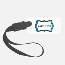 Personalizable Teal Black White 2 Luggage Tag