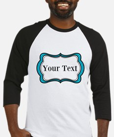 Personalizable Teal Black White 2 Baseball Jersey