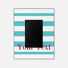 Personalizable Teal Eggplant Sea Horse Picture Frame