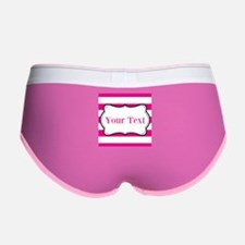 Personalizable Hot Pink and White Women's Boy Brie