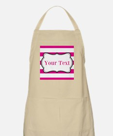Personalizable Hot Pink and White Apron