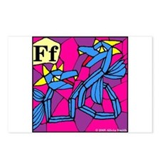 F is Fenmine Postcards (Package of 8)