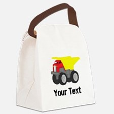 Personalizable Red Yellow Dump Truck Canvas Lunch