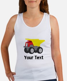 Personalizable Red Yellow Dump Truck Tank Top