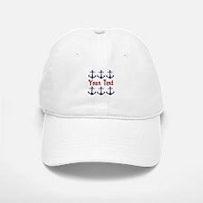 Personalizable Red and Blue Anchors Baseball Baseball Baseball Cap