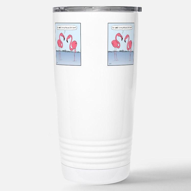 Cute Funny flamingo Travel Mug