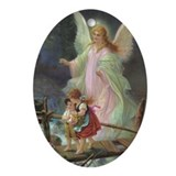 Angel christmas Oval Ornaments