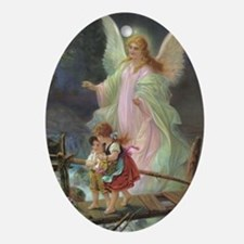 Victorian Angel Oval Ornament