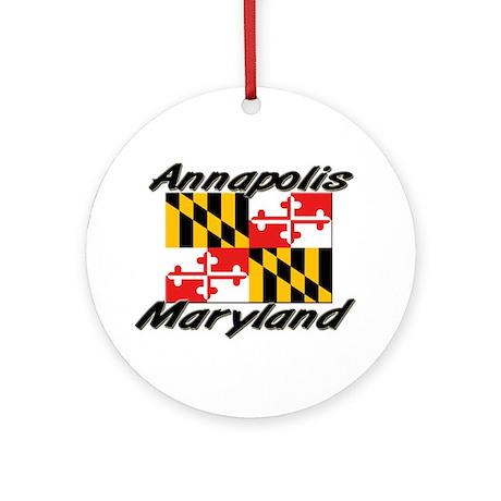 Annapolis Maryland Ornament (Round)