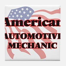 American Automotive Mechanic Tile Coaster