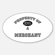 Property of a Merchant Oval Decal