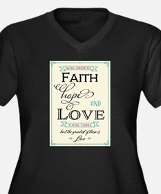 Faith Hope and Love in Red and T Plus Size T-Shirt