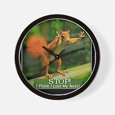 squirrel lost his nuts 2 Wall Clock