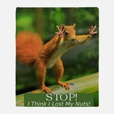 squirrel lost his nuts 2 Throw Blanket