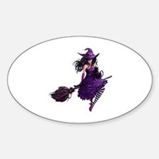 Sexy Purple Halloween Witch Decal