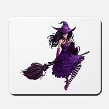 Sexy Purple Halloween Witch Mousepad