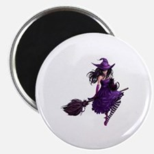 Sexy Purple Halloween Witch Magnet