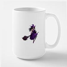 Sexy Purple Halloween Witch Large Mug