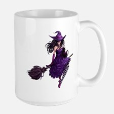 Sexy Purple Halloween Witch Mug