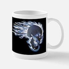 Blue Flaming Skull Mug
