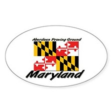 Aberdeen Proving Ground Maryland Oval Decal