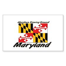 Aberdeen Proving Ground Maryland Sticker (Rectangu