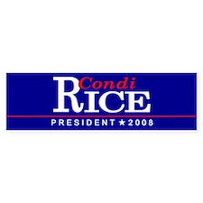 CONDI RICE PRESIDENT 2008 Bumper Bumper Sticker