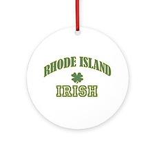 Rhode Island Shamrock Ornament (Round)