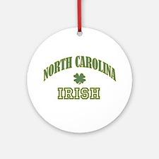 North Carolina Irish Shamrock Ornament (Round)