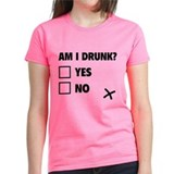 Are you drunk yes no check box Women's Dark T-Shirt