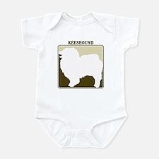 Professional Keeshound Infant Bodysuit