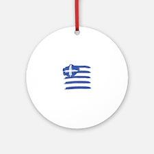 Cute Mykonos greece Round Ornament