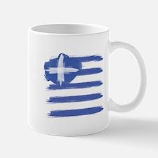 Greece Flag greek Mugs
