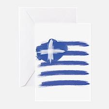 Greece Flag greek Greeting Cards