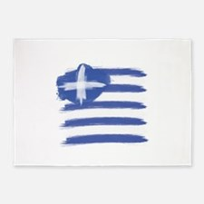 Greece Flag greek 5'x7'Area Rug