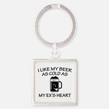 As Cold As My Ex's Heart Square Keychain